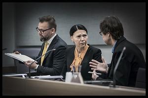 Under rättegången i Norrtälje tingsrätt nekade Barbara Jarl till alla anklagelser.