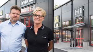 Daniel och Marie Forsberg har startat sitt företag MD Kök & Bad för att driva en Kvik butik på Erikslund.