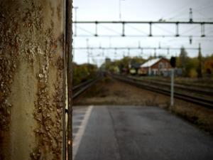 Ville beskriva känslan jag fick en oktoberdag. Spåren leder norrut, så även min längtan just i dag. Foto: Anders Sjöqvist