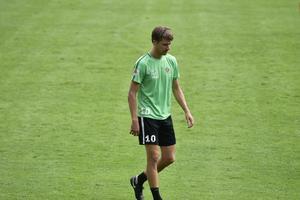Jakob Orlov under torsdagens träning