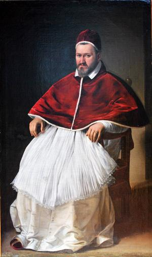 Paulus V 1605. Målning av Carvaggio,