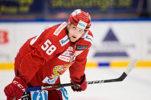 Almtunas Fredrik Forsberg sägs vara klar för Leksand. Om det är fallet är det en breddspelare i klubbens SHL-trupp. Foto: Tobias Sterner.