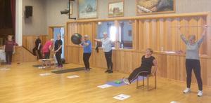 Gymsektionen hade terminsavslutning i Orrgården. Foto: Örjan Eriksson