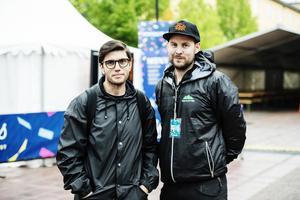 Dino Vulic, här tillsammans med Oskar Vesterlind, på Höga Kusten Nöje.