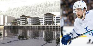 Superstjärnan i NHL, Victor Hedman, vill vara med och finansiera en total make over av Varvskajen. Foto: Joel Marklund/Bildbyrån och Peab