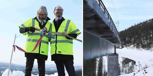 Den officiella invigningen av den nya järnvägsbron vid Stora Helvetet besöktes av allt från kommunrepresentanter och näringsliv, till entreprenörer och tågoperatörer.
