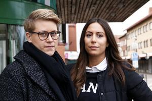 Emma Heldevik och Maria Mikaelian, på Första steget i Sandviken.