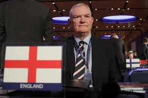 Greg Clarke, ordförande i FA, är orolig för att flera ligaklubbar kan gå omkull. Arkivbild.