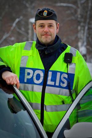 Back Pär Andersson, trafikpolis i Sundsvall. Bild: Li L'Estrade