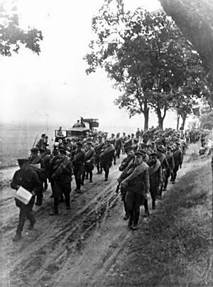 Ryska soldater marscherar in i Polen i september 1939. Foto: Okänd