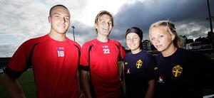 Johan Brolin och Johan Svensk från ABK, samt Caroline Nilsson och Caroline Rönnquist från Team Hudik åker på söndag med sina respektive lag till Göteborg och Gothia Cup.