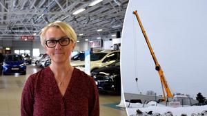 Maria Nordholm är optimistisk inför att de ska kunna öppna allt som vanligt igen efter takraset över plåtverkstaden.