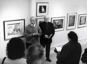 Lars Ödmark och Åke Hanaeus presenterar en utställning i ST:s eget galleri, Versalen, 1993.