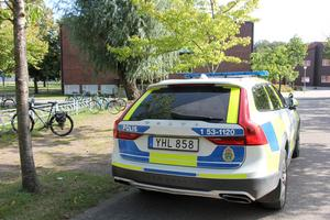 Ett stort polispådrag syntes på Kavelbro på fredagen.