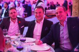 Davi, Ausin och Moussa ville så klart gå på gala och stödja de krigsdrabbade i Mellanöstern.