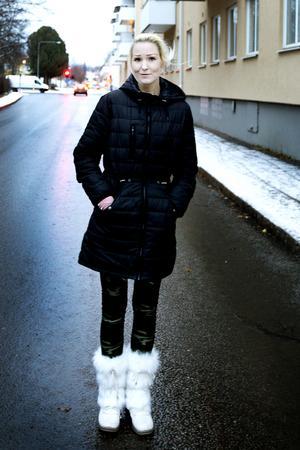 Cathrine Norén, nu 33 år, tycker om snö och minns snökaoset väl.