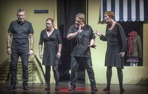 På scen från vänster  Thomas Björnhager, Linda Bergvin Pers, Peter Östlund  och Christine Fredriksson.
