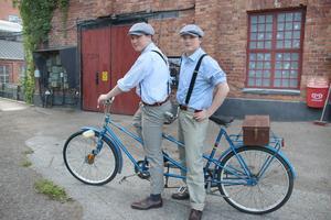 Tvillingarna Måns och Algot Bergström spelade med Bergslagens teaterspektakel i sommarens uppsättning av