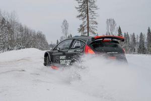 Finta vintervägar väntar för Dalarnas enda ekipage, Johnny Andersson och Mickael Johansson, i Rally Sweden. Foto: R-Sport Sweden