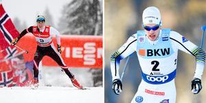 Johannes Dürr och Viktor Thorn. Foto: Adam Ihse/TT och Gian Ehrenzeller/Keystone via AP