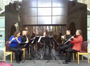 Nordiska Blåsarkvintetten spelade musik som binder samman Sverige och Amerika.