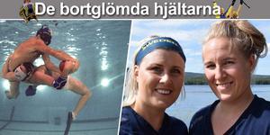 Maria Melin Wittberg och Erika Lindström är uttagna till VM i undervattensrugby. Foto: Montage, Julia Larsson och TT.