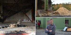 Inget av värde förstördes i branden vid Husums Snickeri.
