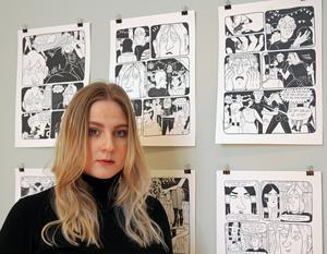 Agnes Jakobsson ställer ut originalbilder ur sitt hyllade debutseriealbum