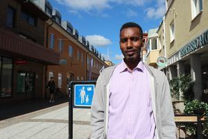 Abdirahman Haaji från Falköping vill helst ha mellan 20-30 grader varmt.