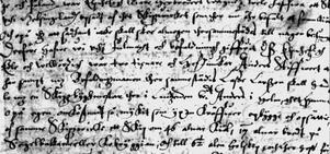 Originaltexten där beställningen på skeppet görs till Anders i Holm via fogden i Hälsingland.