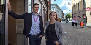 Emil och Louise Engman har flyttat företaget TFIP från Åsgatan i Falun till Holmgatan.