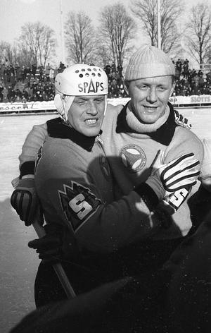 Stjärnbrödraduon Dallas och Kurre Sedvall svarade för tre av Brobergs fyra mål när Broberg bärgade SM-guldet 1964 i omspelet mot Skutskär på Studenternas.