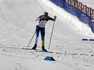 Vårbys Elin Näslund var snabbast i Lilla Fjälltopploppet.                                                               Bild: Privat