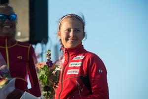 Tove Eriksson är ett välbekant ansikte när det gäller olika lopp. Under Stenstansloppet blev hon tvåa.