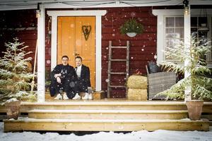 Som ett julkort. Utemiljön är viktig för Nicklas och Tomas Lorentzon.