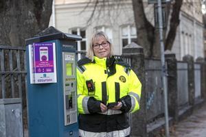 Maria Lundgren trivs utmärkt med sitt jobb, förutom när det är mycket nederbörd.