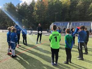 Johan Wiland inspirerade de unga Nifen-spelarna. Foto: Emma Ny