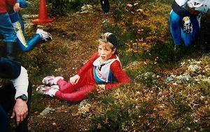 Calle Halfvarsson segrade i Hackmora bergslopps P16-klass, trots att han själv bara var elva år fyllda.
