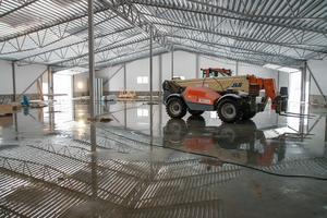 Till våren ska delar av produktionen flytta in i de nya lokalerna, bland annat kommer svetsavdelningen att  hamna här.