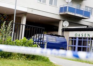 Efter morden. Den förra spelklubben Oasen där morden inträffade. I dag ligger en vårdcentral på platsen men minnena i Ronna lever för alltid kvar. Foto: LT:s arkiv