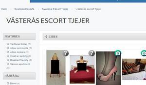 Köparna kommer i kontakt med kvinnor som säljer sex via olika sajter på nätet. Foto: Polisen.
