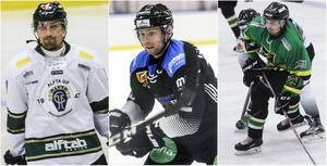 Daniel Rafner, Alfta, Jesper Gustavsson, S/L, och Ted Åström, Lindefallet. Här nedan ser du hur deras vecka ser ut.
