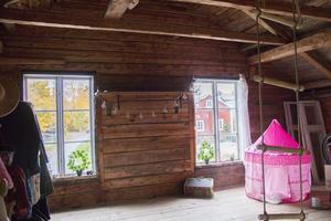 Det oisolerade rummet som ofta används för spontanlek stängs till under vinterhalvåret.