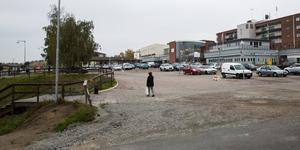 Nykvarns centrum är under ombyggnad.