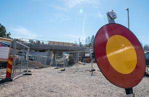 I augusti förra året stängdes vägen och öppnade i april i år.