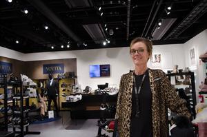 Sofia Berglund har drivit Scorettbutiken i Falun i ett år.
