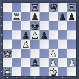 Lösning: 1.Da6+ Ke7 2.De6.