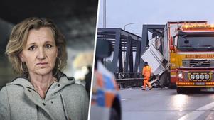 Boel Godner (S) välkomnar att regeringen ger Trafikverket i uppdrag att utreda behovet av bro över kanalen. Foto: Yvonne Åsell/SvD/TT & LT-arkiv