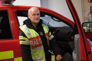 Brandman Kent Andersson hann även med att åka upp ett dygn till Trängslet för släckningsarbete denna sommar.