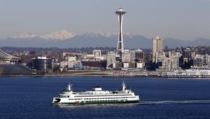 Storstaden Seattle och landmärket Space Needle. Bild: TT